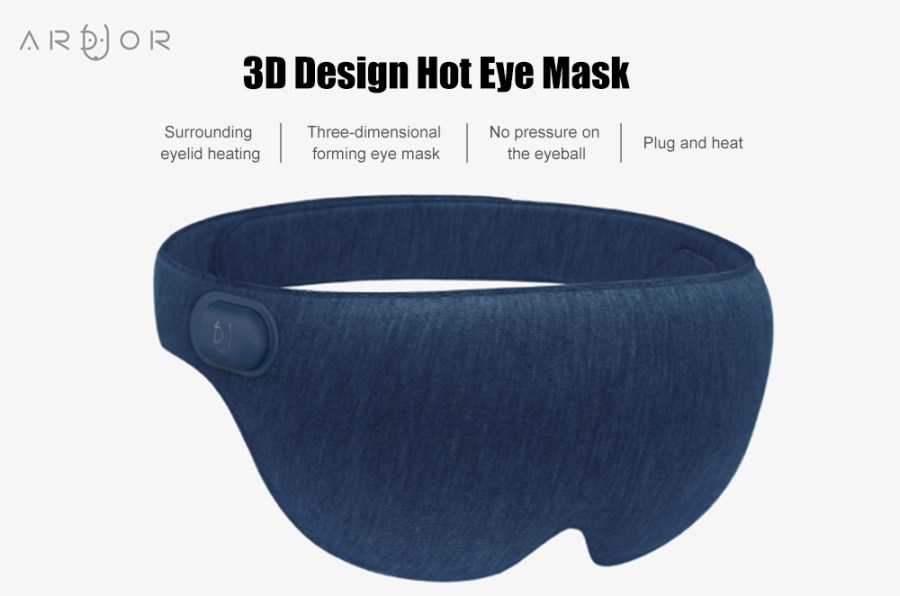 ARDOUR AD - ES011806 3D Design Hot Eye Mask for Home Office Travel from Xiaomi Youpin- Cloudy Gray