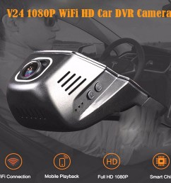 v24 1080p wifi hd car dvr camera with 170 degrees wide angle black [ 1000 x 874 Pixel ]