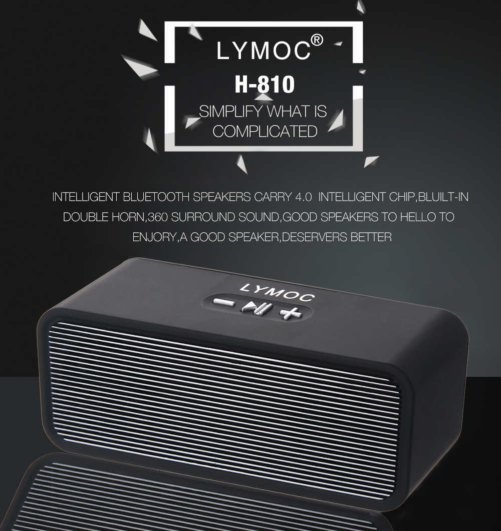 Lymoc H810 Portable Wireless Speaker Bluetooth Soundbox Sale Price Reviews Gearbest