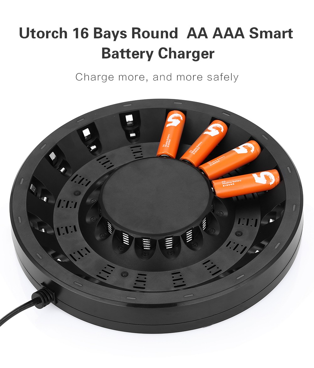 hight resolution of utorch fy 1601 16 bays smart aa aaa battery fast charger with built