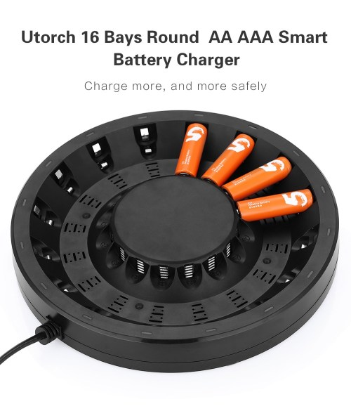small resolution of utorch fy 1601 16 bays smart aa aaa battery fast charger with built
