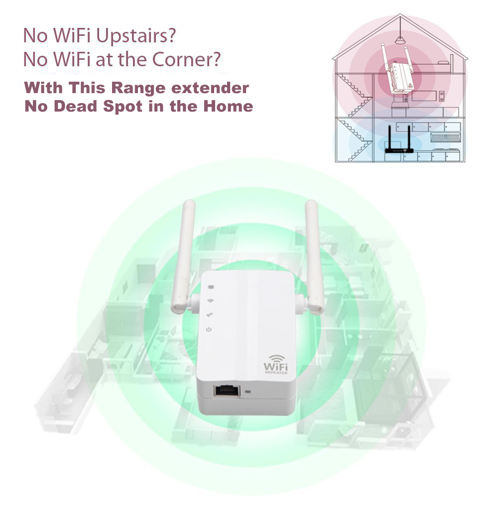 hight resolution of kr43ed wifi range extender wireless router repeater white us plug 2 pin