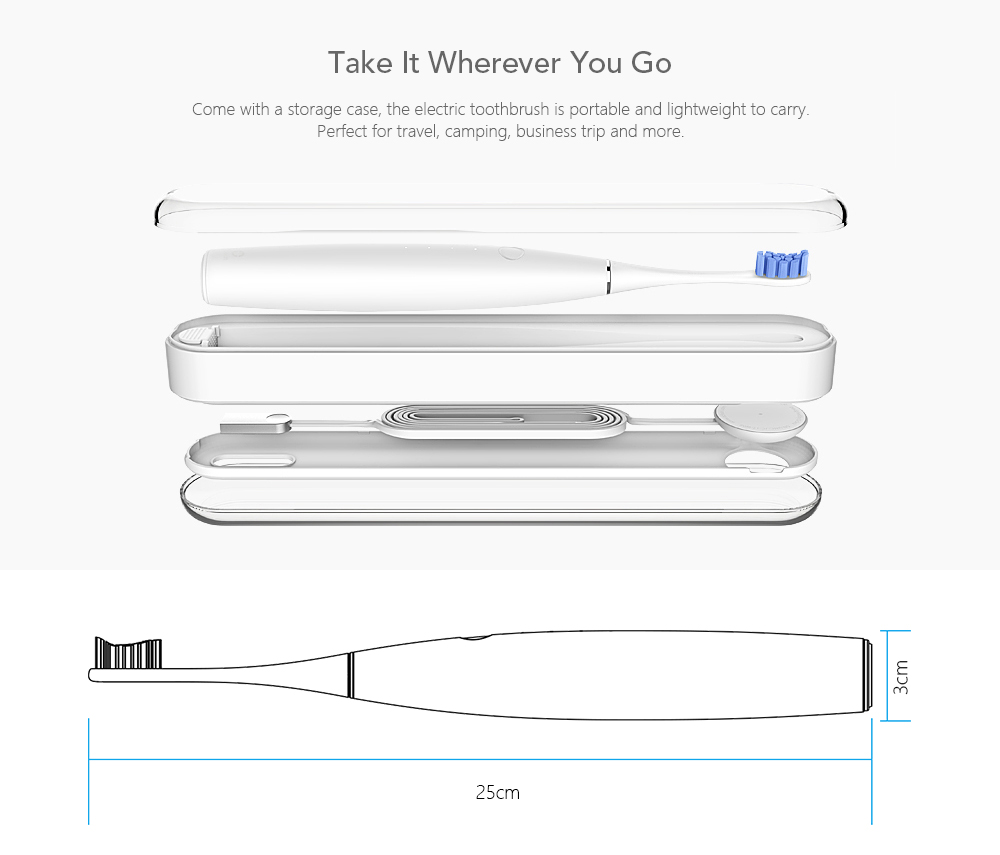 medium resolution of oclean se rechargeable sonic electrical toothbrush international version app control with 2 brush heads and 1