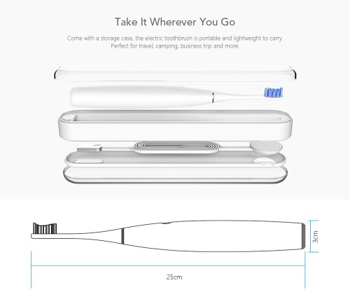 small resolution of oclean se rechargeable sonic electrical toothbrush international version app control with 2 brush heads and 1