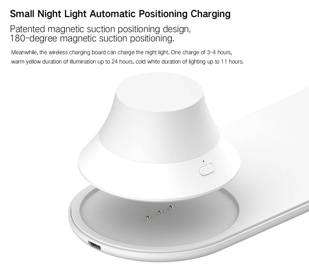 Yeelight Wireless Charging Night Light ( Xiaomi Ecosysterm Product )- White 1Pc