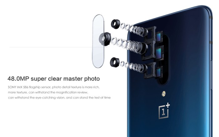 OnePlus 7 Pro 4G Phablet 6.67 inch Android 9.0 Snapdragon 855 Octa Core 2.84GHz 8GB RAM 256GB ROM 48.0MP + 16.0MP + 8.0MP Rear Camera 4000mAh Battery- Blue