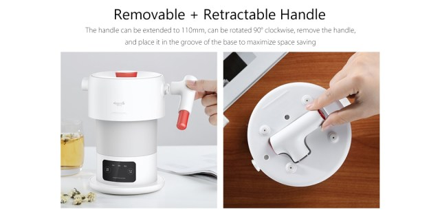 Deerma DH206 Multifunctional Folding Smart High Power Large Capacity Electric Kettle from Xiaomi youpin- White