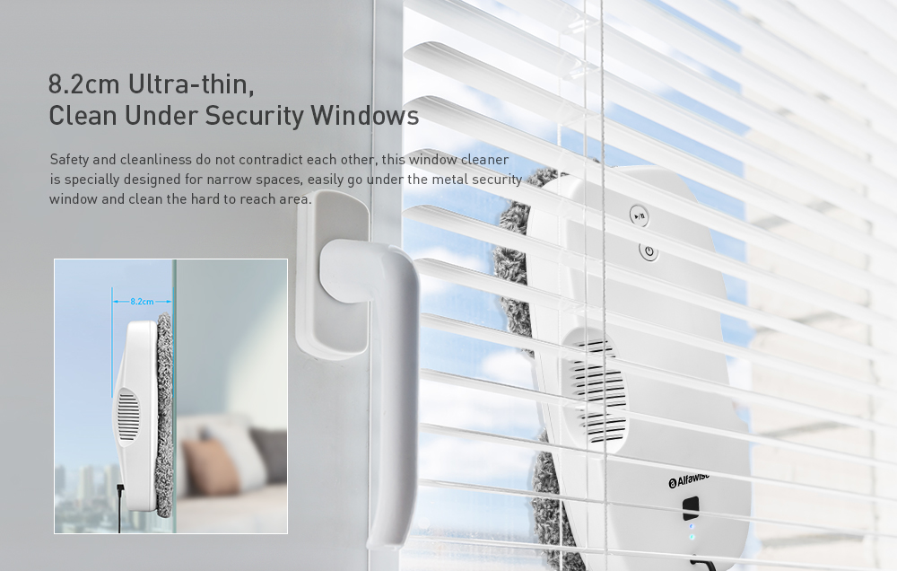 Alfawise S60 Pro Round Window Cleaner Window Cleaning Robot- White