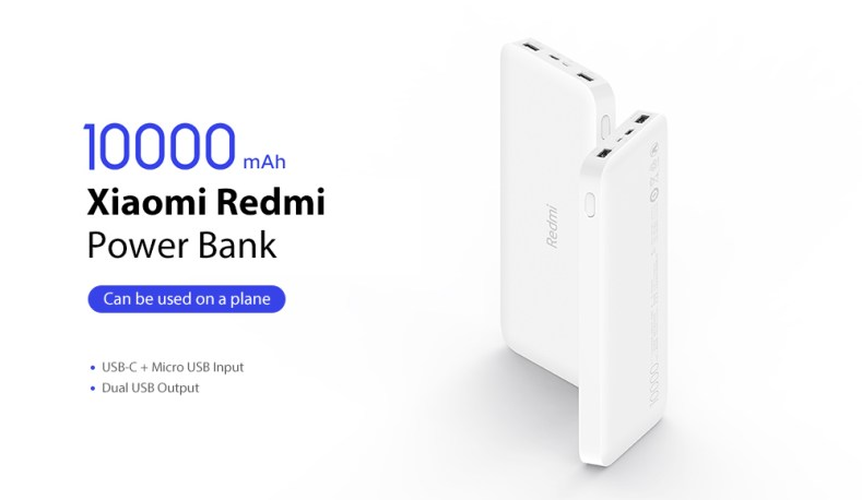 Xiaomi Redmi 10000mAh Dual Input & Output Power Bank 4