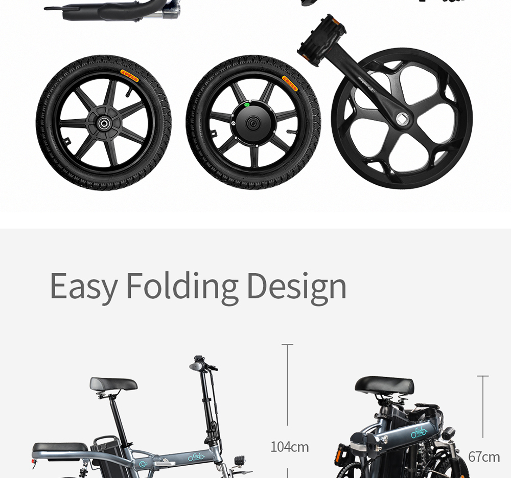 FIIDO L2 14 inch Electric Bicycle Smart 20Ah Folding Moped