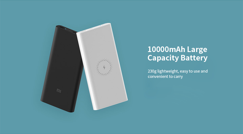 Xiaomi WPB15ZM Wireless Power Bank 10000mAh 10W Output Two-way Quick Charge Youth Version- Black