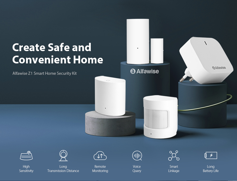Alfawise Smart Home Sensor Suite- White Sensor Kit