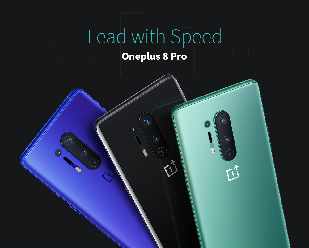 Oneplus 8 Pro 5G Smartphone - Light Sea Green 12GB + 256GB
