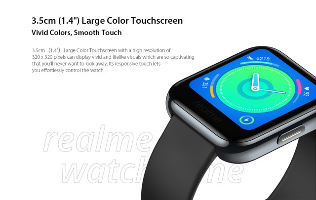 """OPPO Realme Watches Smart Watch 3.5cm ( 1.4"""" ) Large Color Touchscreen"""