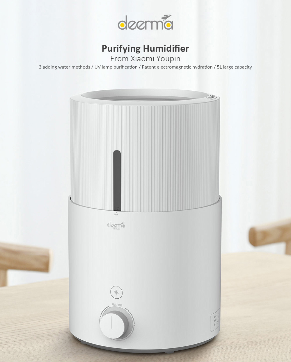 Xiaomi Deerma DEM - SJS600 5L Purifying Humidifier Offered For Just .40