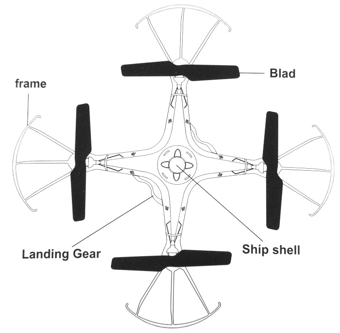 Xintianyu Toys F522 2.4GHz 4CH RC Quadcopter 6 Axis Gyro
