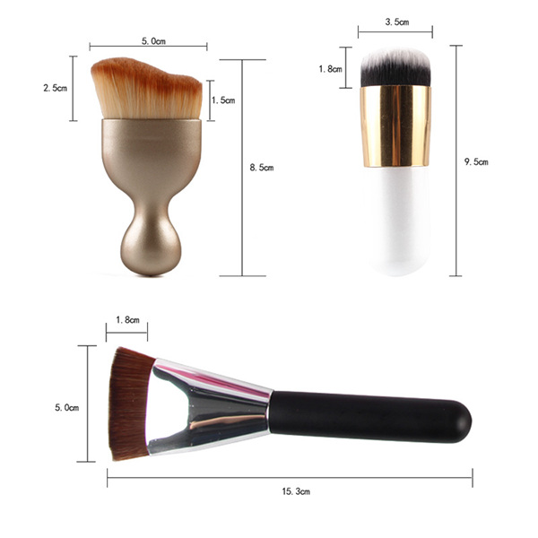Maquillage MAANGE5152 20 Pcs Pinceaux Set + 8 Pcs Beauté Mélangeurs + S-Forme Blush Brush + Foundation Brush + Contour Brush
