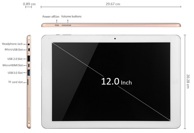 Chuwi Hi12 tablet Specs and Features