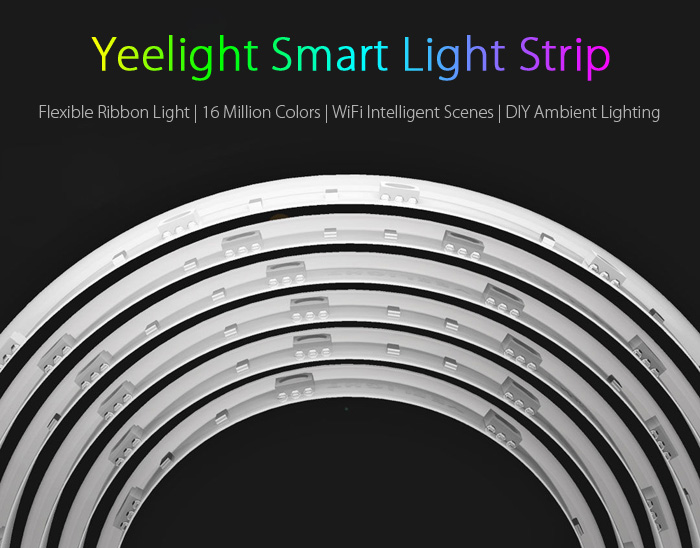 Light Strip Intelligent Xiaomi Yeelight Contrôle WiFi 2M 16 millions de couleurs