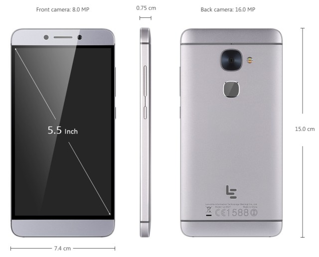 Letv Leeco Le 2 X527 Android M 5.5 inch 4G Phablet Snapdragon 652 Octa Core 2.3GHz 3GB RAM 32GB ROM 16.0MP Rear Camera Fingerprint Scanner A-GPS International Version
