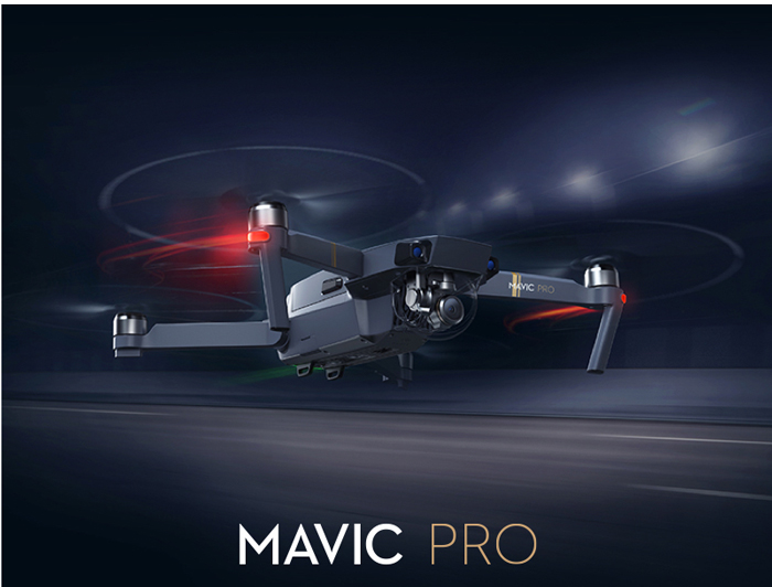DJI Mavic Pro Mini RC Drone à 7km Ocusync Transmission / 4K UHD Camera / 3 axes Brushless Gimbal
