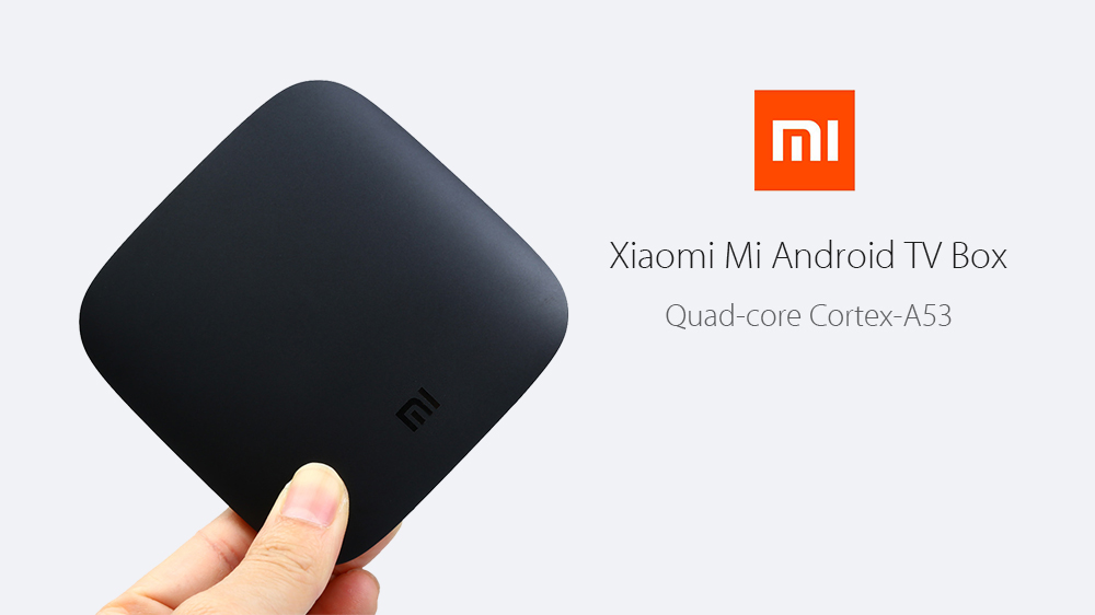 (Official Version Internationale) Original Xiaomi Mi Android TV Box Quad-core Cortex-A53 4K H.265 VP9 Profile-2 Décodage bi-bande WiFi Dolby DTS
