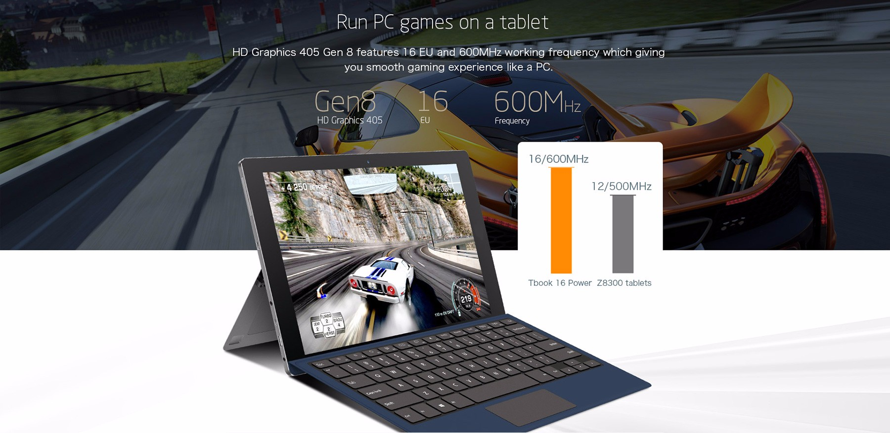 Teclast réper 16 Alimentation Tablet PC de Windows 10 + Android 6.0 11.6 pouces écran IPS Intel Atom x7-Z8750 64bit Quad Core 1.6GHz 8GB RAM 64GB ROM Caméras OTG