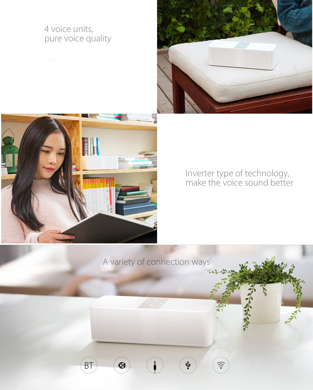 Xiaomi Mi original Smart Network Wireless Speaker FM Radio bibande WiFi Bluetooth 4.1