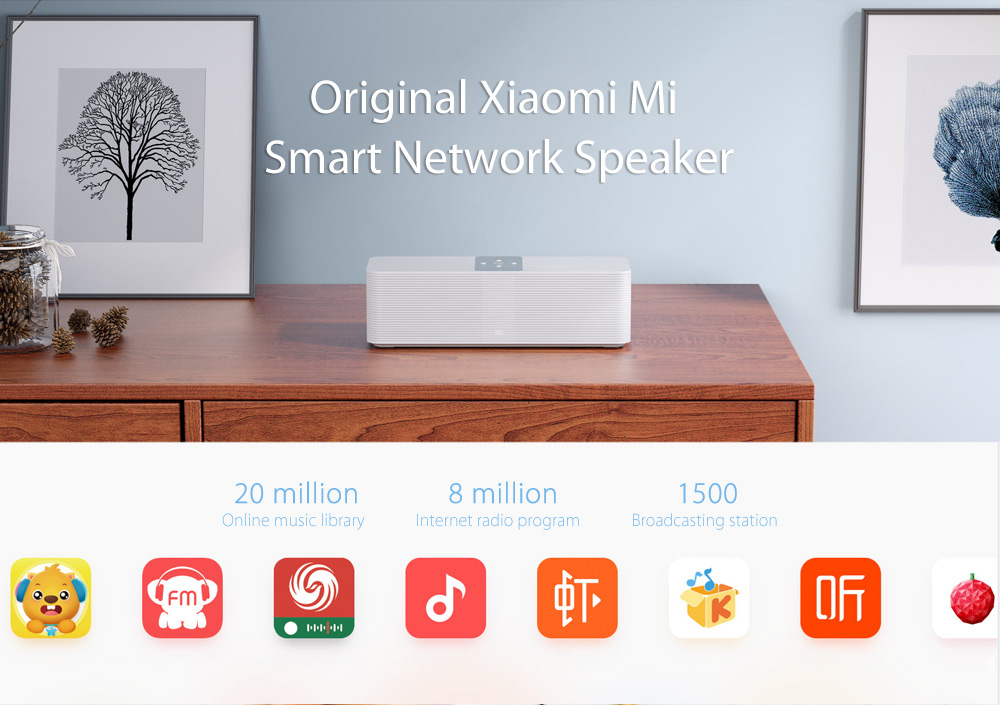 Original Xiaomi Mi Smart Network Speaker Wireless FM Radio Dual Band WiFi Bluetooth 4.1
