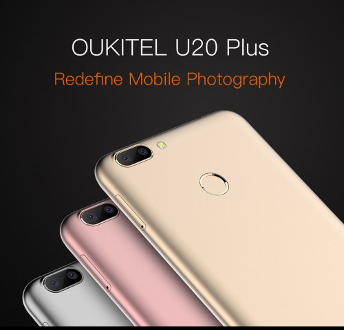 OUKITEL U20 Plus 4G Phablet 5.5 inch IPS Screen Android 6.0 MTK6737 Quad Core 1.5GHz 2GB RAM 16GB ROM 5MP + 13MP Cameras Fingerprint Sensor