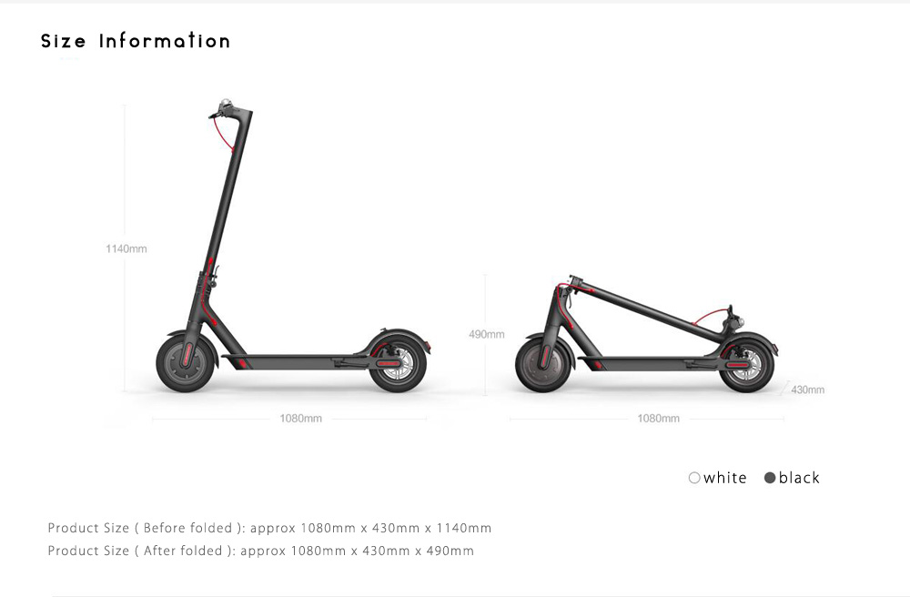 Original Xiaomi M365 Folding Electric Scooter-539.99