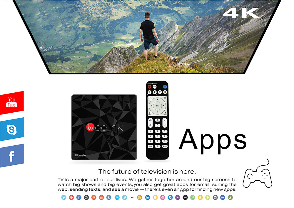 Beelink GT1 Ultimate TV Box Amlogic S912 Octa Core Android 6.0 Media Player