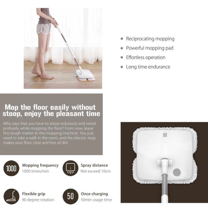 xiaomi handheld electric mop un balai electrique xiaomi. Black Bedroom Furniture Sets. Home Design Ideas