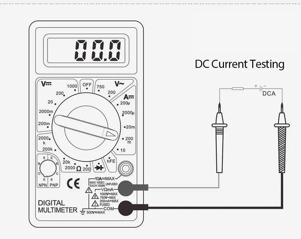 2019 Whdz Dt830b Digital Multimeter Ac Dc Voltmeter Tester