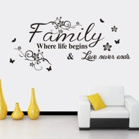 Black Family English Word Style Wall Sticker Home