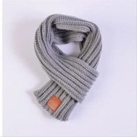 Black Knitted Scarf Kids Winter Warm Shawls And Scarves ...
