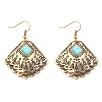 Silver States Trend Of New Turquoise Earrings Bohemian ...