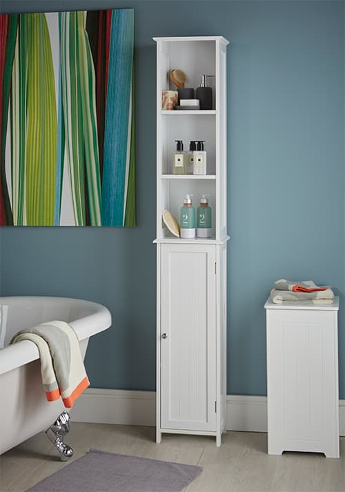 STORE  Slimline Tall Bathroom Storage Cabinet