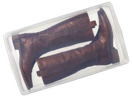 STORE  Clear Plastic Boot Storage Box