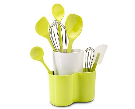 kitchen tool holder kitchener triple basket deep fryer store melamine utensil for better storage