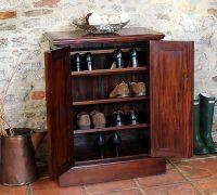 STORE | Mahogany Shoe Storage Cabinet - La Roque