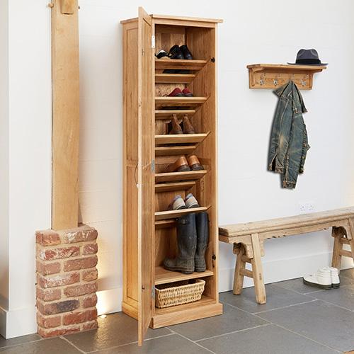 STORE  Oak Tall Shoe Cupboard  Mobel