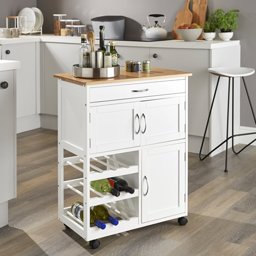 STORE  Kitchen Trolley with Bamboo Top
