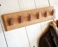 STORE | Solid Oak 6 Hook Coat Rack