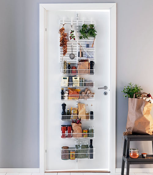 kitchen cupboard gadgets trash bin store | elfa door & wall rack - pantry storage