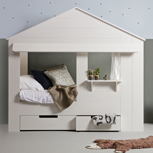 STORE  Huisie Childrens Cabin Bed With Drawers
