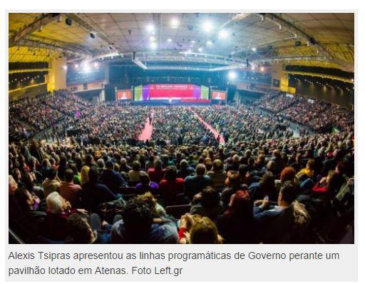 Tsipras: Em 26 de janeiro, o governo grego da maioria das pessoas!