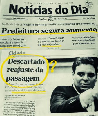 Florianópolis: Primeiro Ato Contra o Aumento da Tarifa