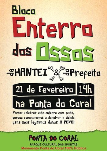Ponta do Coral enterro dos ossos-cartaz 2