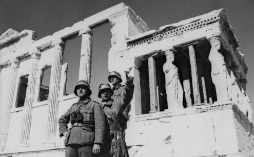 Tropas de ocupação no Partenon